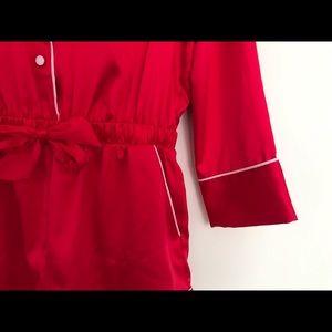 1992c8e4306e Victoria s Secret Intimates   Sleepwear - VS Satin   Rhinestones Button  Front Romper ...
